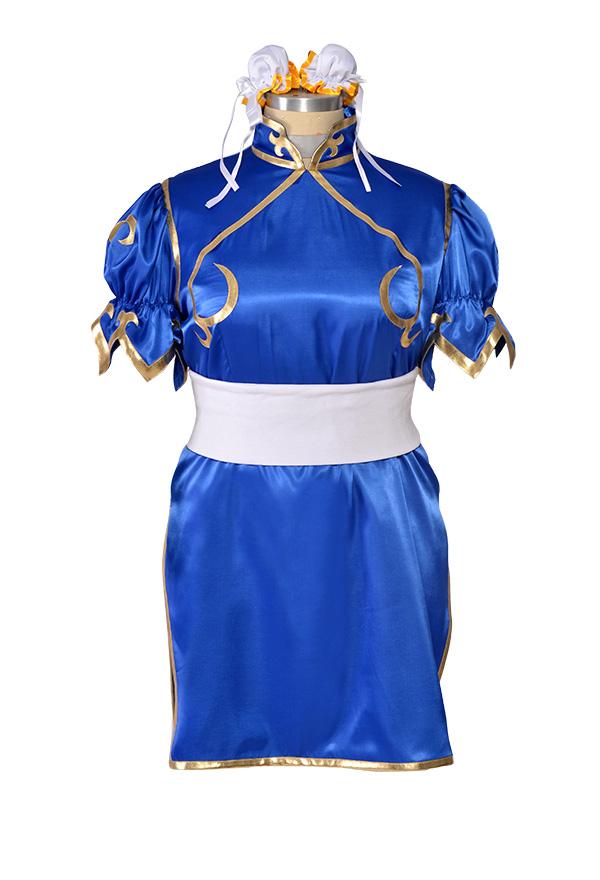 プラスサイズ ストリートファイター 春麗 チュンリー コスプレ 衣装