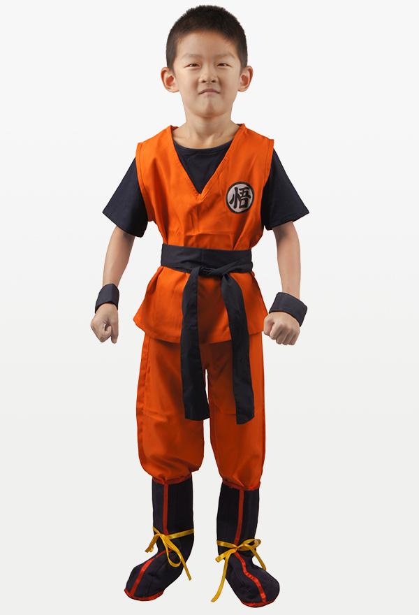 ドラゴンボール 孫悟空 コスプレ 衣装 子供 コスチューム Tシャツ ブーツカバー付き