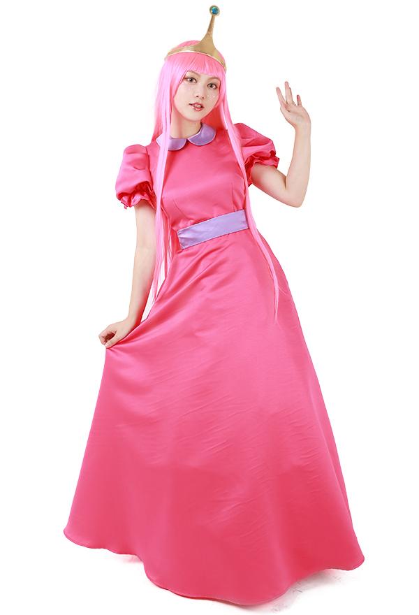 アドベンチャー・タイム プリンセス バブルガム コスプレ 衣装 クラウン付き
