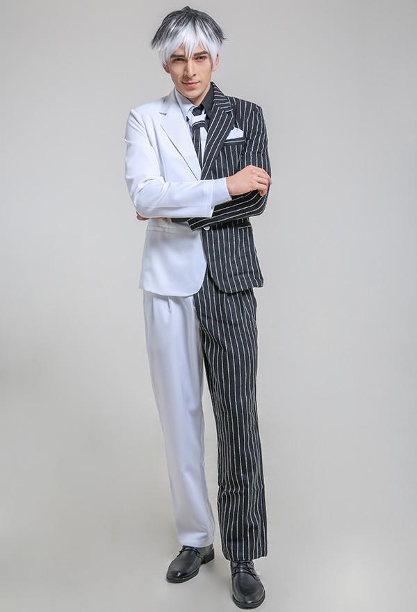 トゥーフェイス スーパー・ヴィラン コスプレ スーツ コスチューム ネクタイと付け襟付き