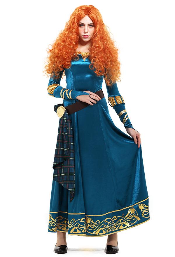 メリダとおそろしの森 Brave プリンセス メリダ コスプレ 衣装 ドレス 大人 独占販売