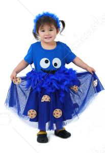 fec9a57242c1b 子供 コスプレ 衣装 チョコレート クッキー ブルー ドレス ハロウィン