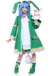 Date a Live Yoshino Cosplay Costume with Bunny Rabbit Hand Puppet Plush Doll