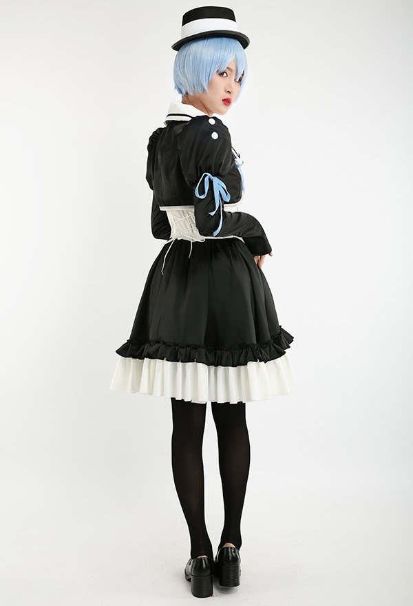 新世紀エヴァンゲリオン 綾波レイ コスプレコスチューム ロリータドレス 帽子付き