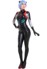 新世紀エヴァンゲリオン EVA 綾波 レイ 黒い ボディスーツ ジャンプスーツ コスプレ コスチューム