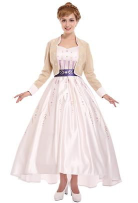 アナと雪の女王2 アナ コスプレコスチューム アナ姫の優美なドレス