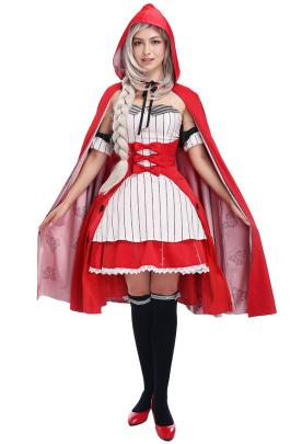 Fate Grand Order フェイトグランドオーダー マシュ・キリエライト コスプレコスチューム ハロウィーン用赤ずきんの可愛いロリータドレス
