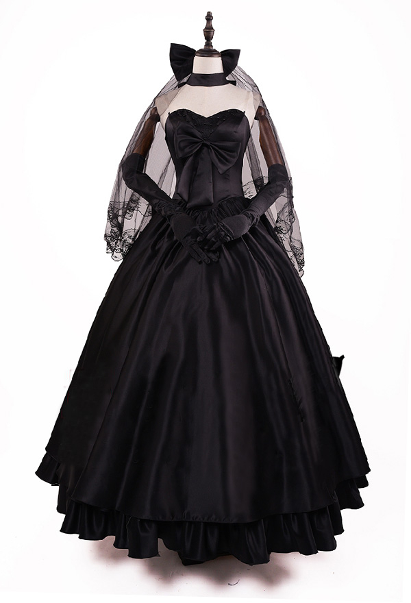 Fate / Stay Night セイバー アルトリア・ペンドラゴン 10周年記念 ウェディング ドレス コスプレ 衣装