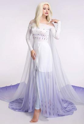 アナと雪の女王2 エルサ コスプレコスチューム  白いドレス