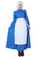 ハウルの動く城 ソフィー ブルー ドレス コスプレ 衣装