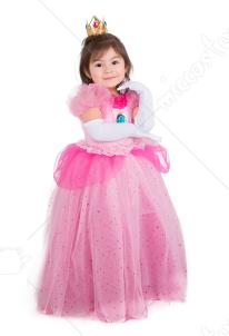 843d8934f5674 ピーチ姫風 コスプレ 衣装 ハロウィン プリンセス 女の子 コスチューム ドレス クラウン