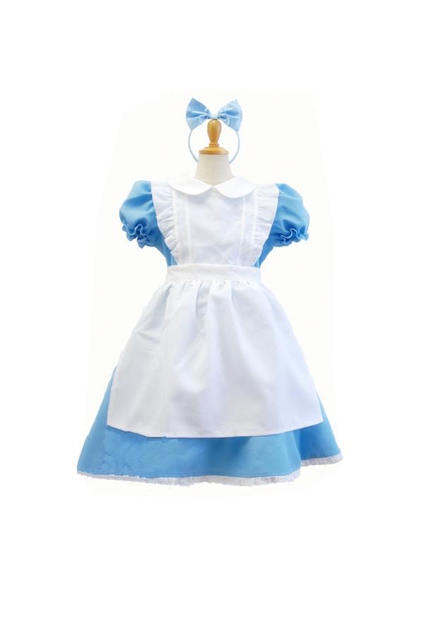 不思議の国のアリス 子供 アリス クリスマス コスチューム 女の子 メイド ドレス