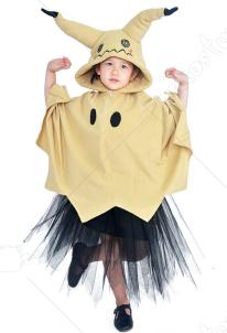 0a2a8c09ba9ea ポケモン ピカチュウ ミミッキュ コスプレ 衣装 子供 コスチューム スカート ポンチョ ハロウィーン