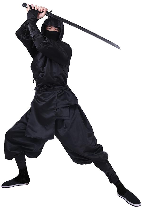 日本 忍者 コスプレ コスチューム フードとソックス付き 男性 大人