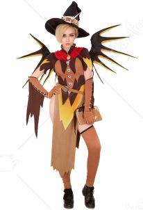 ff5ab9181267f オーバーウォッチ 魔女 マーシー コスプレ コスチューム ハロウィン 翼付き