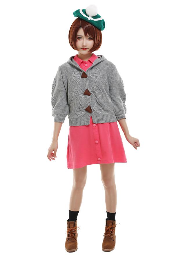 ポケットモンスター ソード・シールド ポケモン剣盾 女主人公 コスプレ 衣装 カジュアル ドレス ニットコートと帽子付き