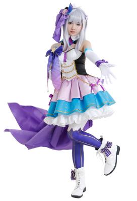 Re:ゼロから始める異世界生活 エミリア コスプレ衣装 アイドル服
