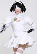 ソウルキャリバーVI 2P ヨルア2号 B型 2B ニール:オートマトン 2B 白い コスプレ 衣装