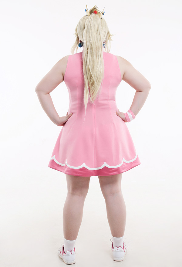マリオ テニス プリンセス ピーチ コスプレ 衣装 プラスサイズ