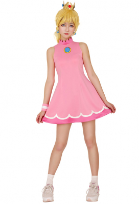 マリオ テニス プリンセス ピーチ コスプレ 衣装
