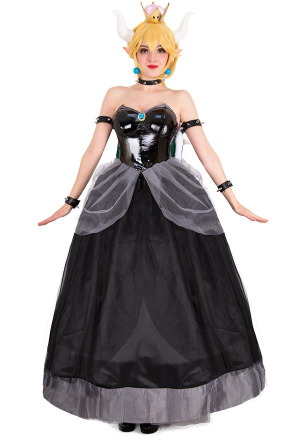 スーパーマリオ クッパ姫 コスプレ 衣装 女性用 ドレス コスチューム