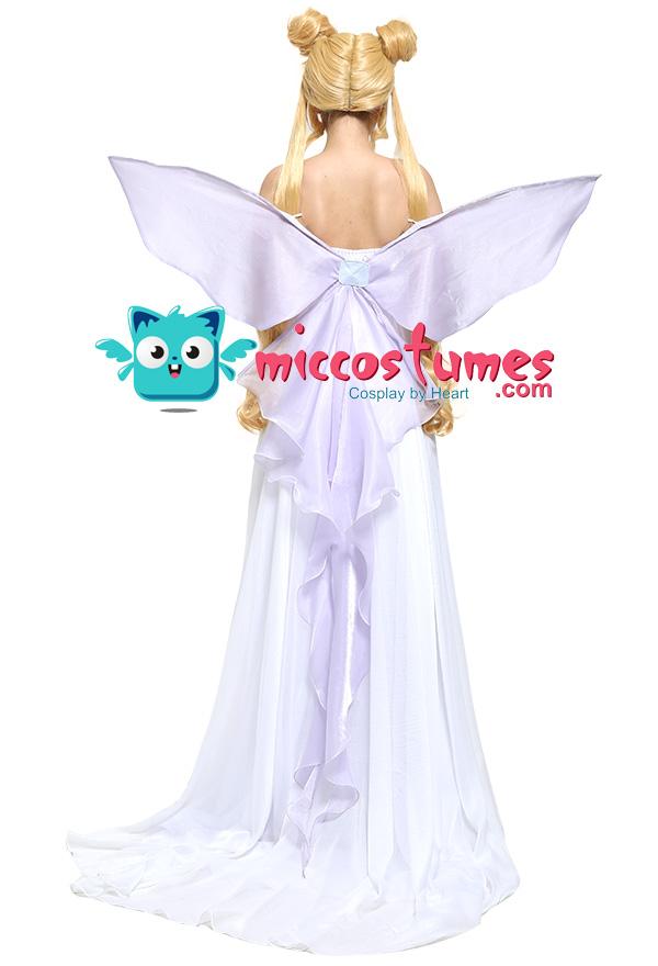 美少女戦士セーラームーン 月野うさぎ コスプレ コスチューム ドレス 蝶 翼付き