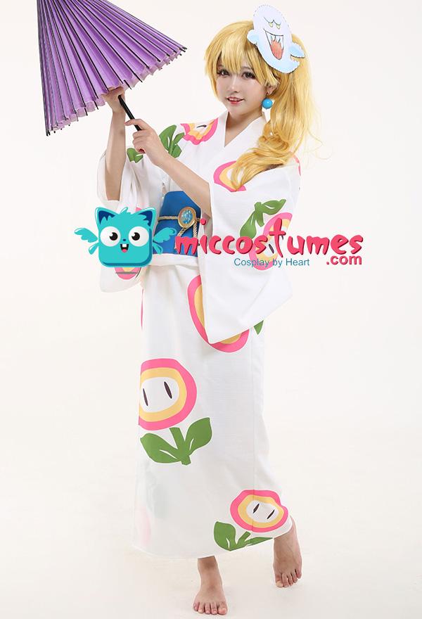 スーパーマリオオデッセイ ピーチ姫 着物 コスプレ 衣装