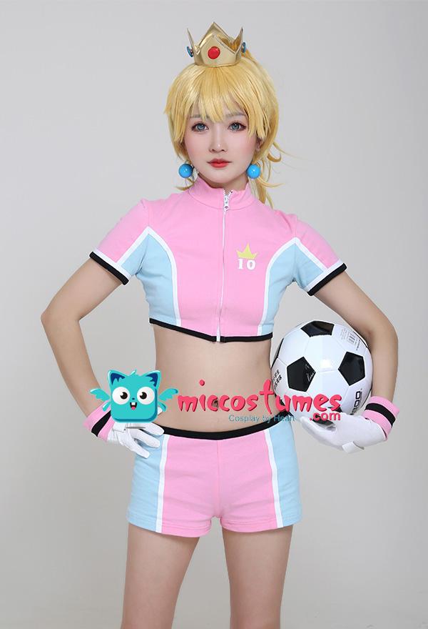 スーパーマリオ ストライカーズ ピーチ姫 コスプレ衣装