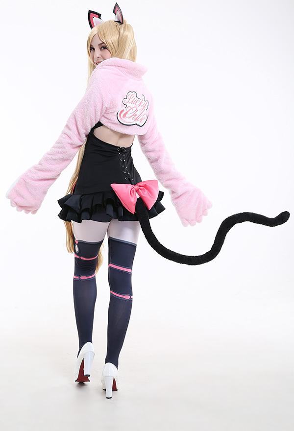 鉄拳7 Chloe コスプレ衣装 ピンク色