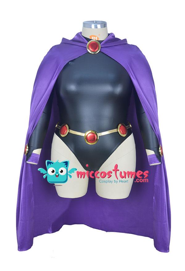 スーパーヒロイン プラスサイズ ハロウィン衣装 レイブンからインスピレーションを受けた オーダーメイド