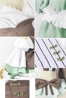 ボーカロイド 初音ミク ペパーミントブラウニー コスプレ 衣装 ロリータ ドレス ファッション