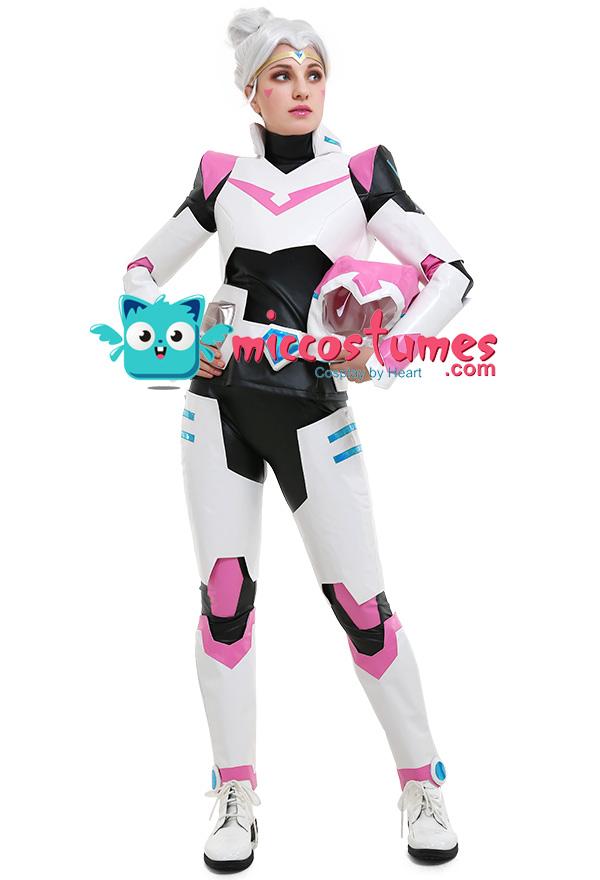 アルーラ姫 ピンク ヴォルトロン ボルトロン コスプレ コスチューム  制服 ヘルメット付き