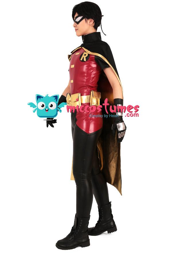 スーパーヒーロー コスプレ コスチューム ボディースーツ  ケープとアイマスク付き ロビンからインスピレーションを受け オーダーメイド