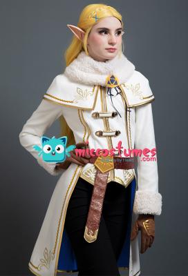 ゼルダの伝説 ブレス オブ ザ ワイルド ゼルダ姫 冬の服 コスプレ コスチューム セット