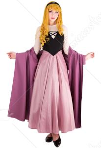 592f12e88cb57 眠れる森の美女 オーロラ姫 コスプレ コスチューム ワンピースドレス コルセットと ...