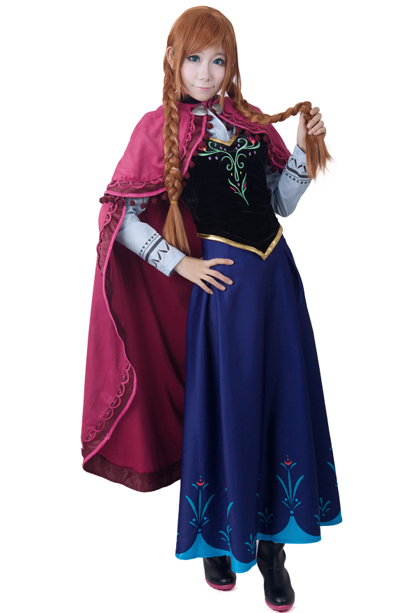 アナと雪の女王 プリンセスアナコスプレコスチューム