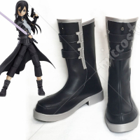 Sword Art Online 2 Phantom Bullet Gun Gale Online Kirito Cosplay Shoes