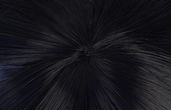 鬼滅の刃 嘴平伊之助 ブラックグラデーションブルー 短い髪 コスプレ ウィッグ