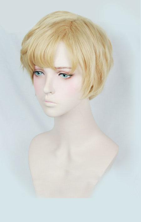 美少女戦士セーラームーン 天王はるか 短い 金髪 コスプレ かつら ウィッグ