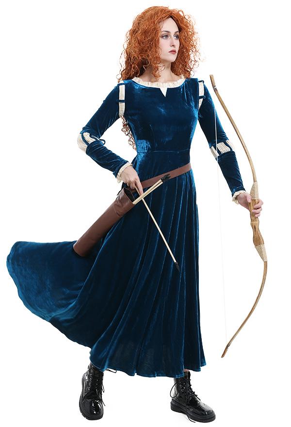 メリダとおそろしの森 プリンセス メリダ コスプレ 衣装 女性用ドレス